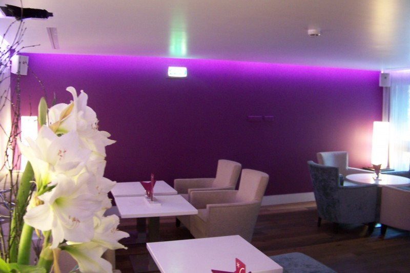 lumiere led plafond bar club chambery